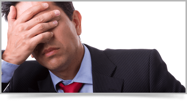 image of frustrated business person