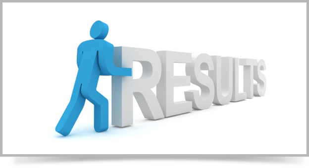 image of man pushing results text