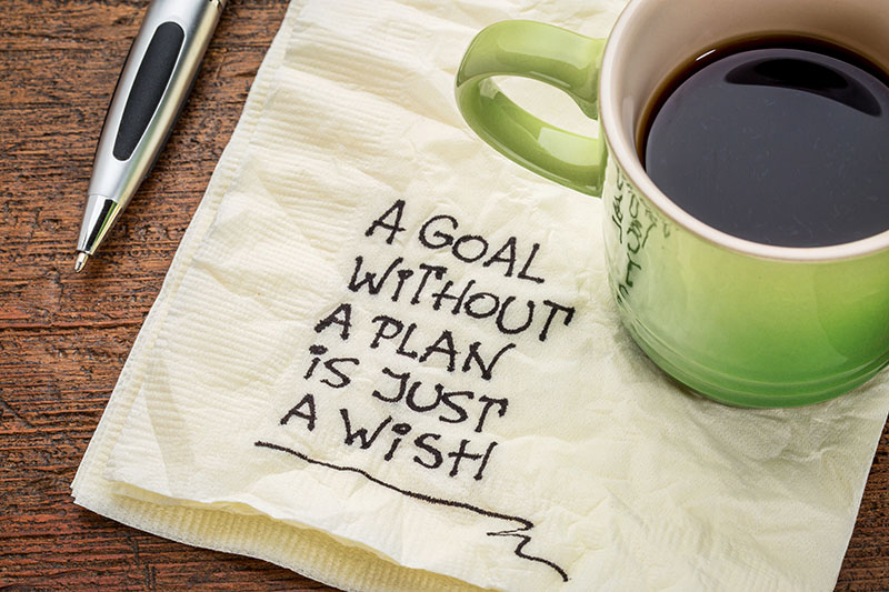 photo of a motivational message about setting clear goals to achieve success