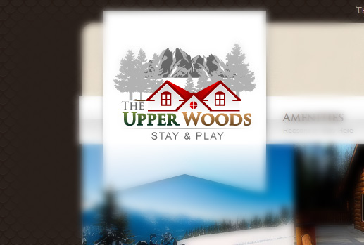 Custom logo design for the The Upper Woods - Valemount Vacation Rental Property.